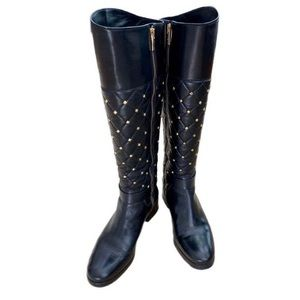 Michael Kors riding boots with gold rivets 7.5